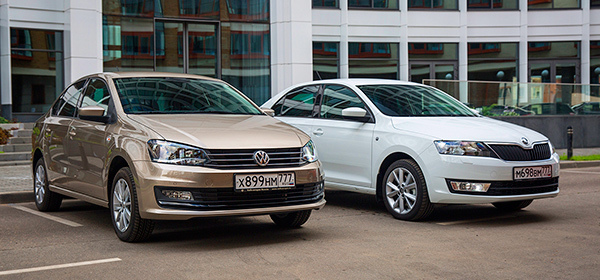 сравнение vw polo vs skoda rapid